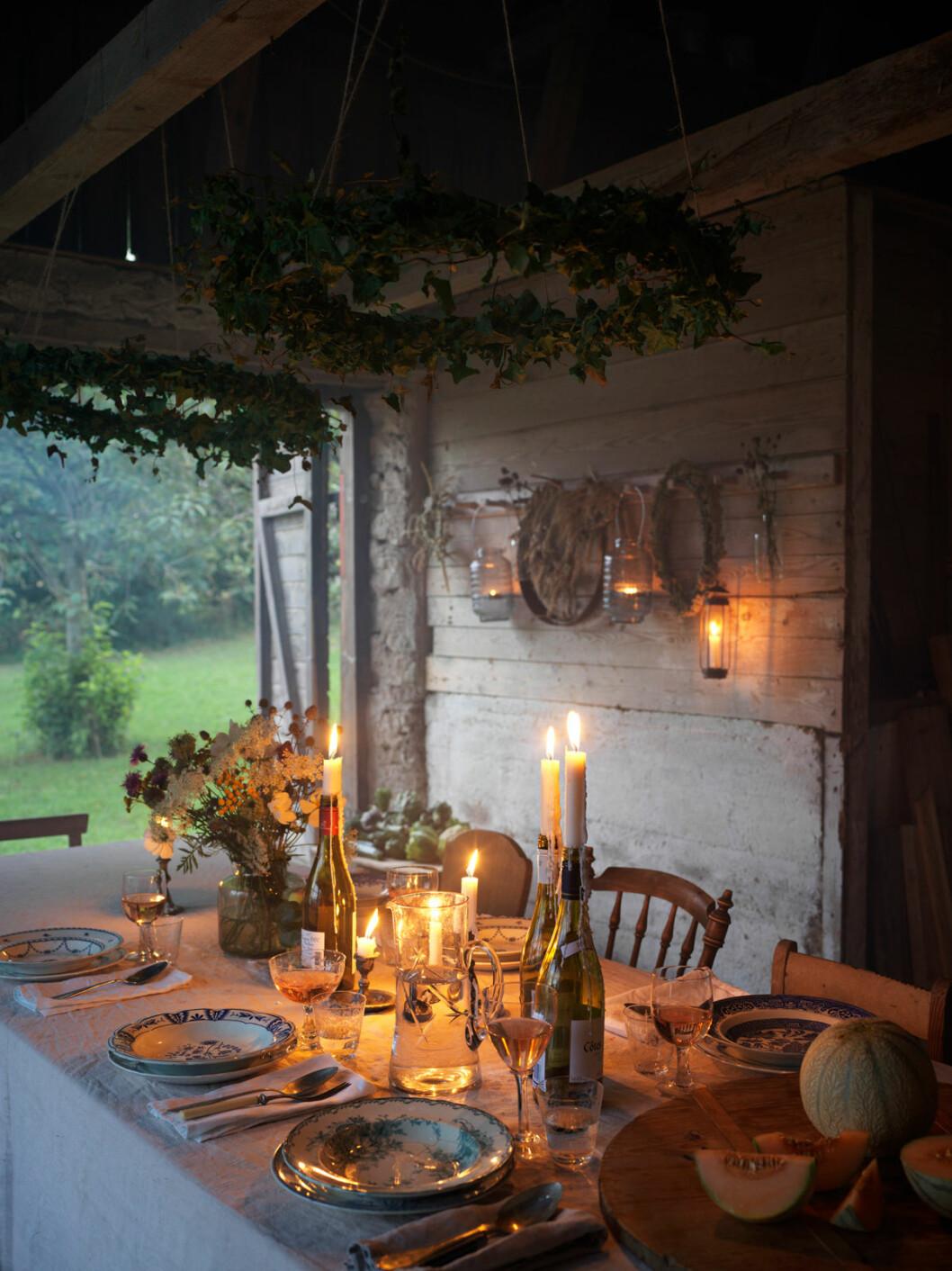 Elsa Billgren sommarhus Gotland ladan middag