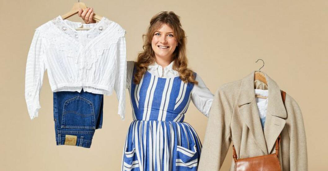 Elsa Billgren öppnar vintageabonnemang med Independent kostym