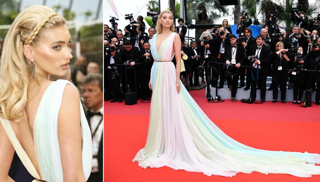 Elsa Hosk berättar om klänningen hon bar på Cannes filmfestival 2019