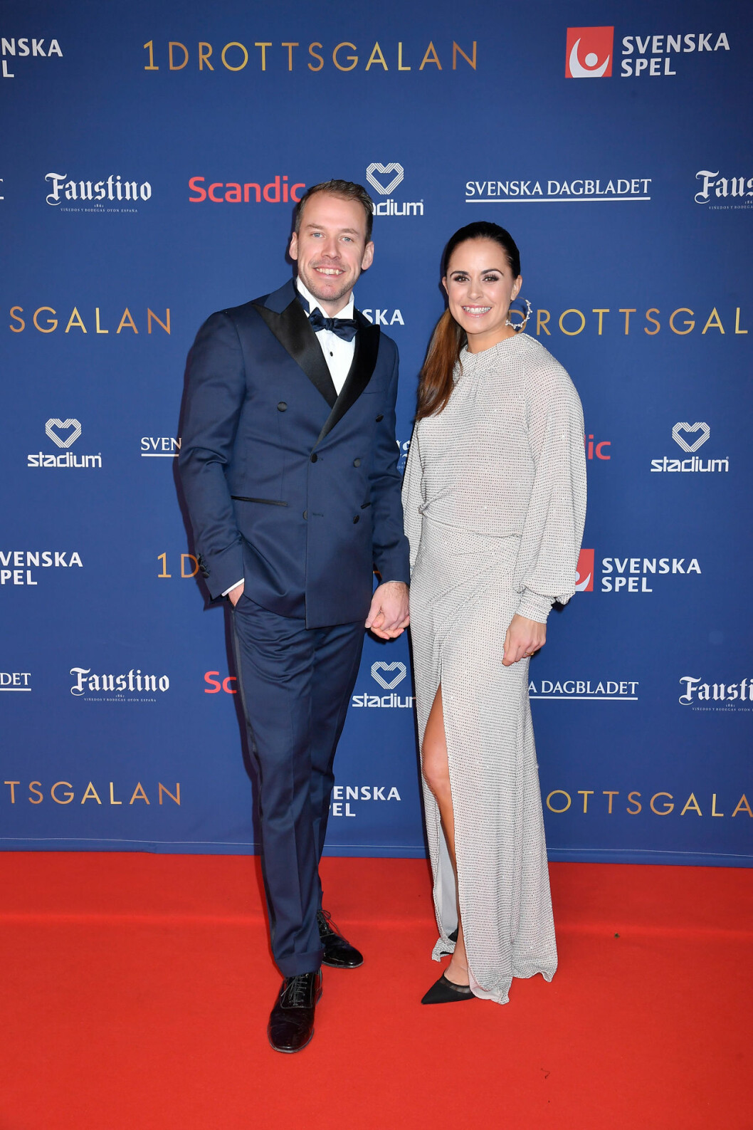 Emil Jönsson och Anna Jönsson Haag på röda mattan på Idrottsgalan 2020