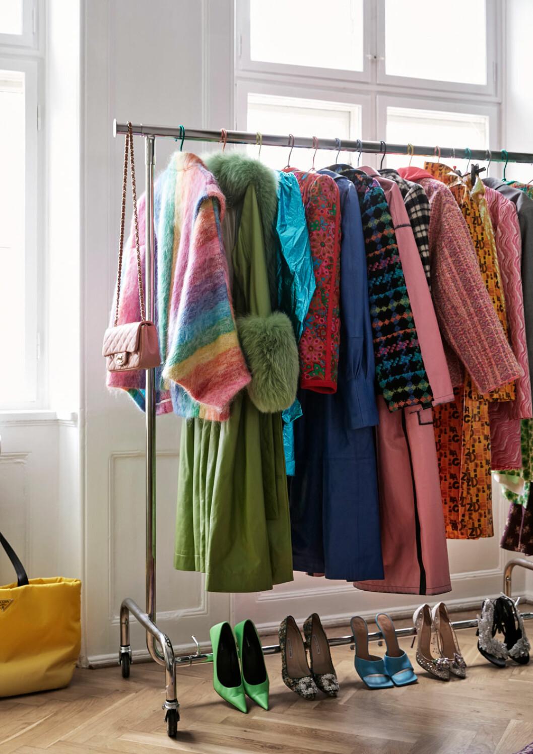 Hemma hos Emili Sindlev Köpenhamn garderob