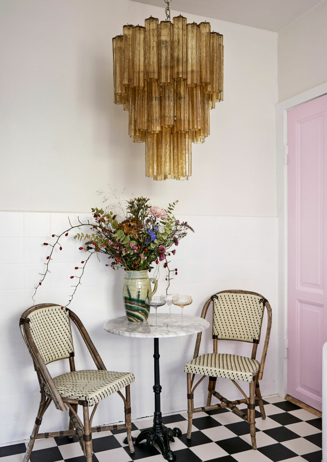 Hemma hos Emili Sindlev Köpenhamn lampa Murano