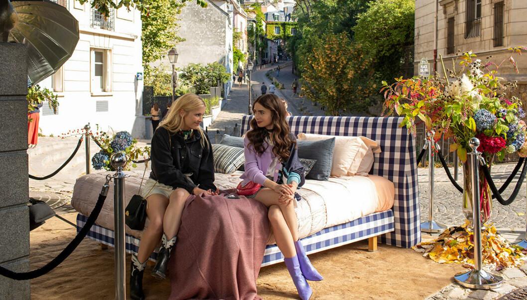 Emily in Paris bed