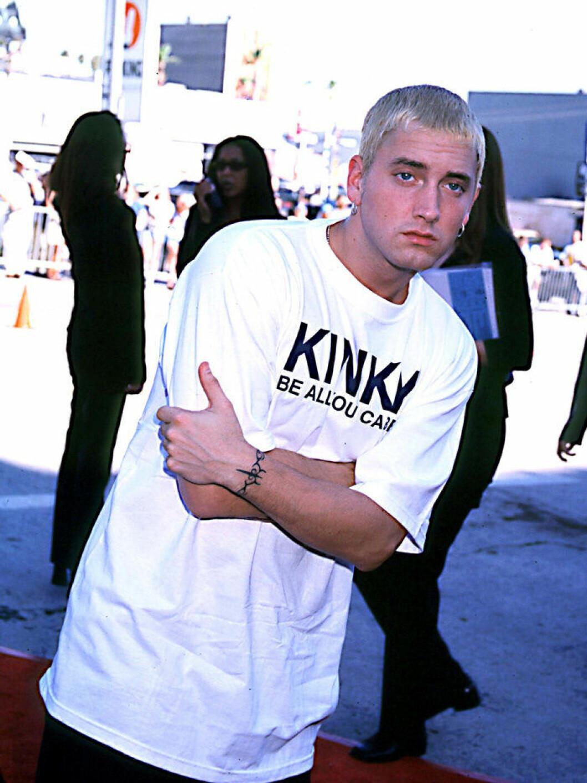 En bild på rapparen Eminem 1990.