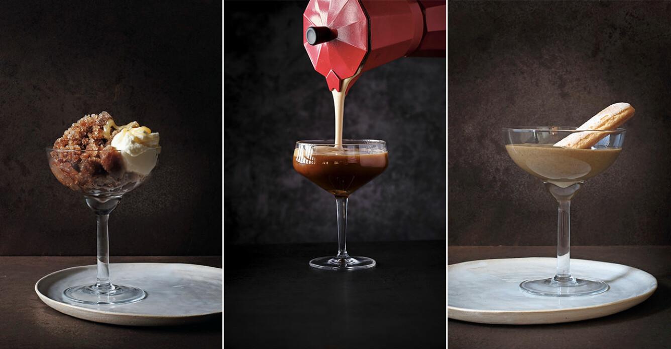 3 uppiggande kaffedrinkar – som extraknäcker om desserter