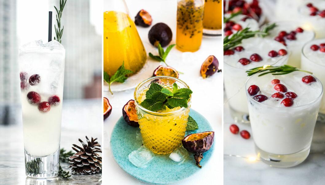 Enkla och goda drinkar till vinterns fester.