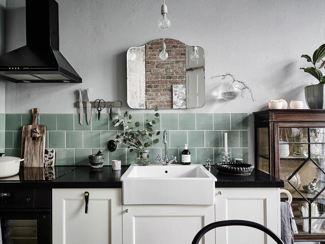 Hållbar inredning till köket med loppisfynd och vintage