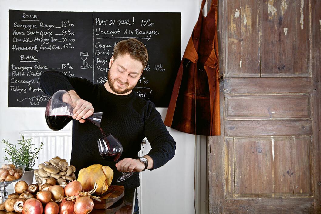 Erik Hammar gillar mat och vin i kombination. Foto: Frida Wismar