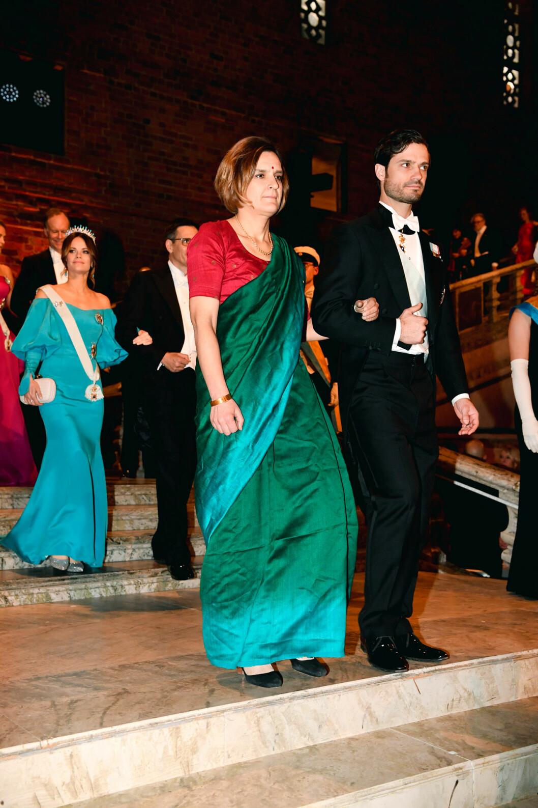 Esther Duflo, Nobelpristagare i ekonomi och prins Carl Philip på Nobel 2019