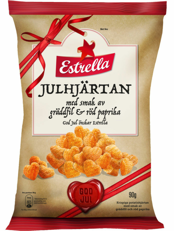 Julhjärtan snacks chips
