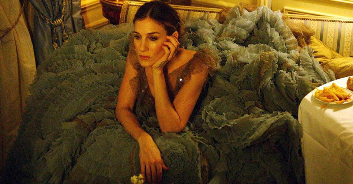 Carrie i vacker klänning