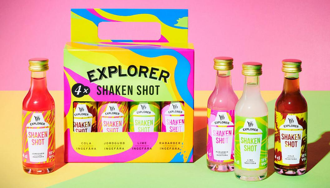 Explorer lanserar Shaken Shots i fyra naturliga smaker.