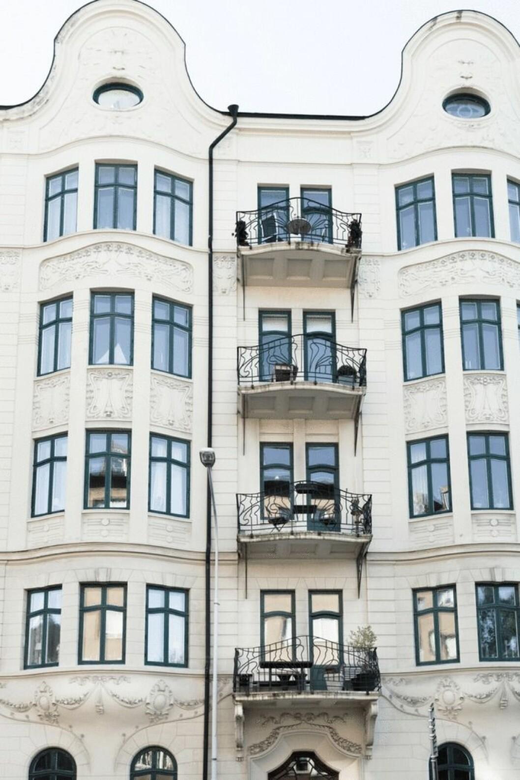 Fasaden till lägenheten.