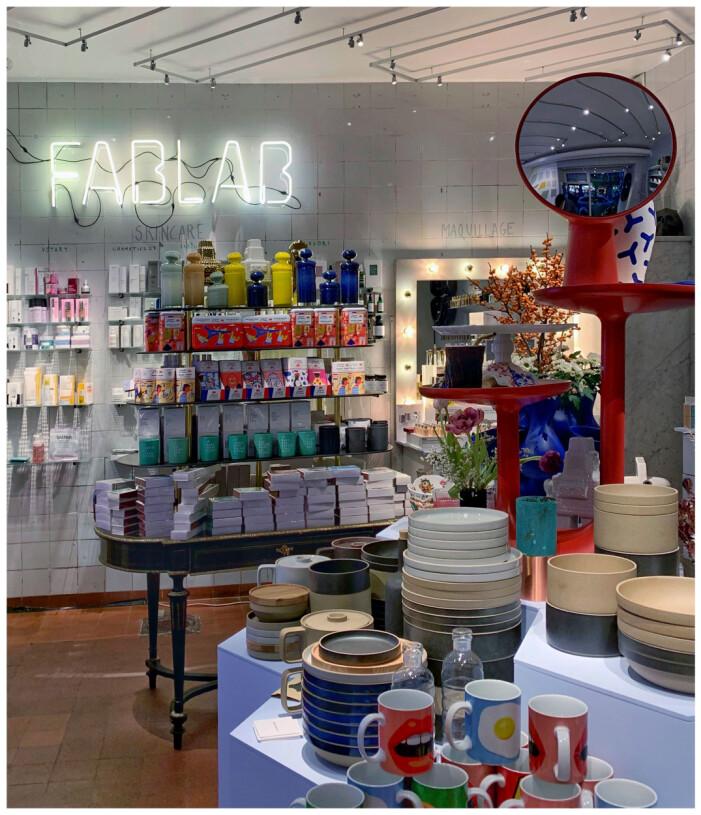 Inrednings- och skönhetsbutiken Fablab i Stockholm