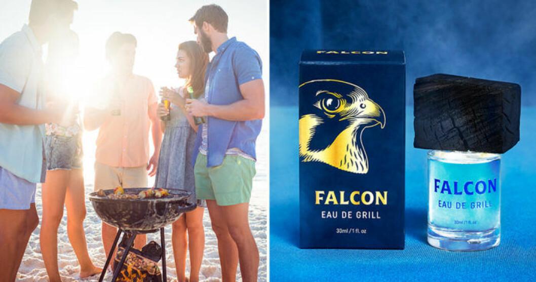 Falcon lanserar parfymen Eau de Grill.