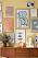 färgglad tavelvägg från Wall of Art
