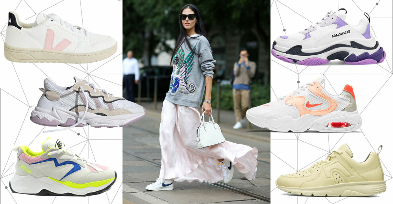 färgglada sneakers 2021