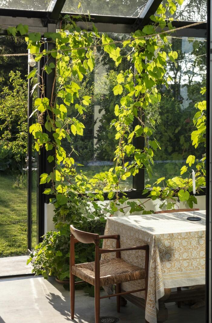 Färingsöhuset Malin Cropper Elle Decoration växthuset matplats uterum