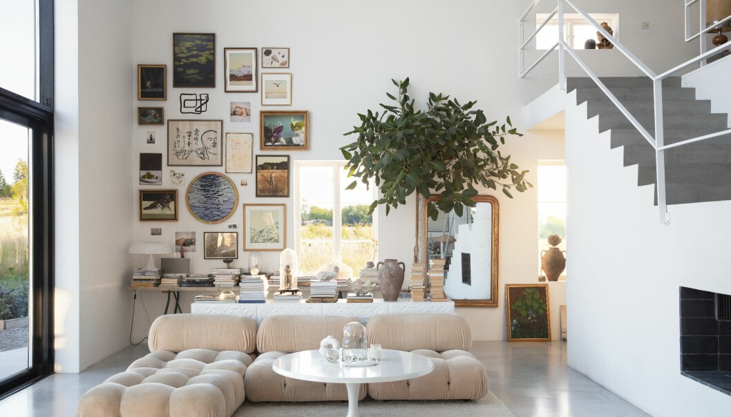 Färingsöhuset Malin Cropper Elle Decoration vardagsrummet