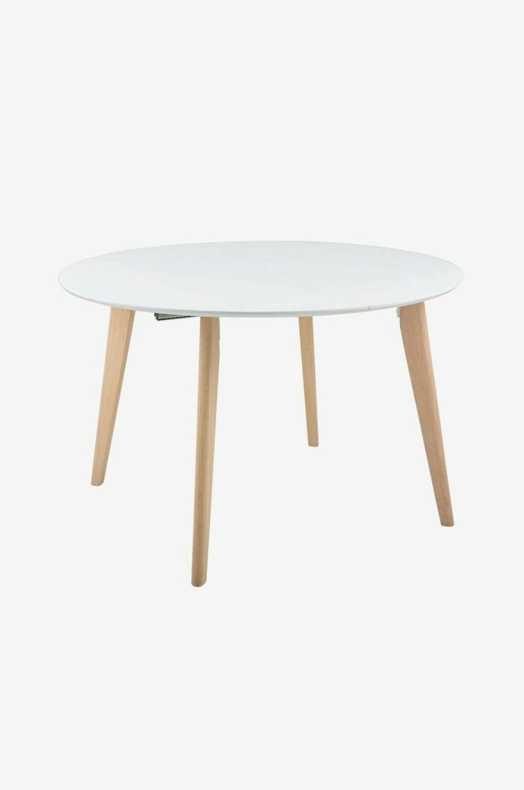 Enkelt vitt bord med träben