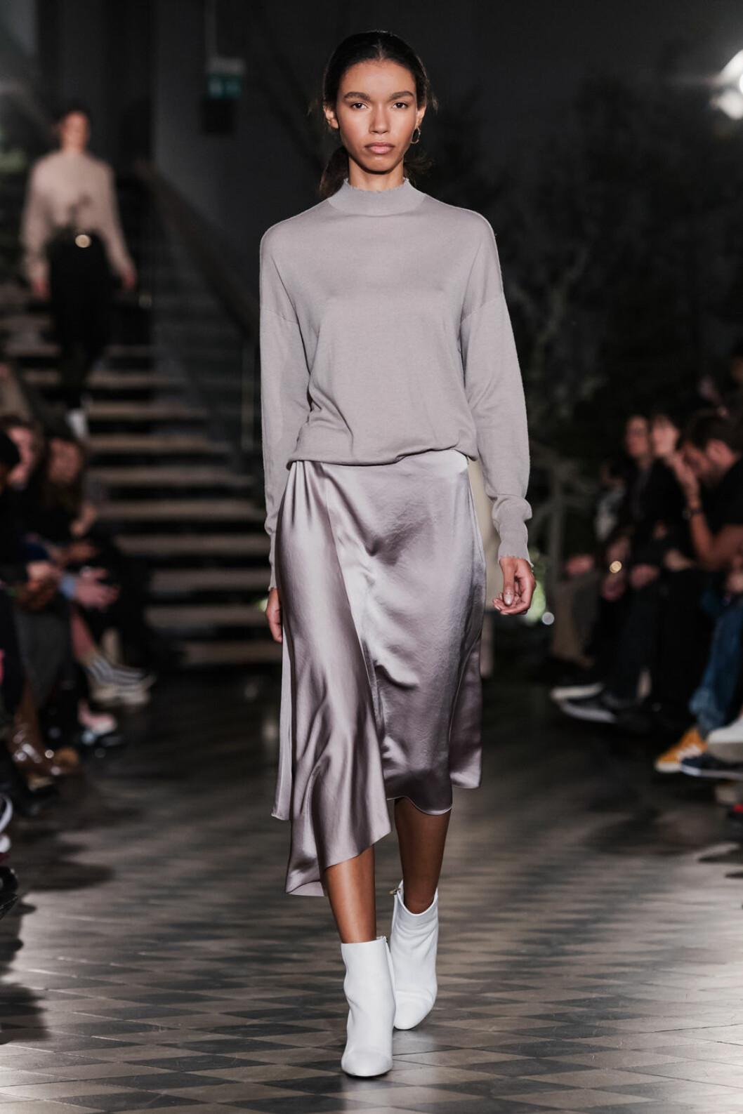 Filippa K AW 18, lavendelfärgad kjol och topp.