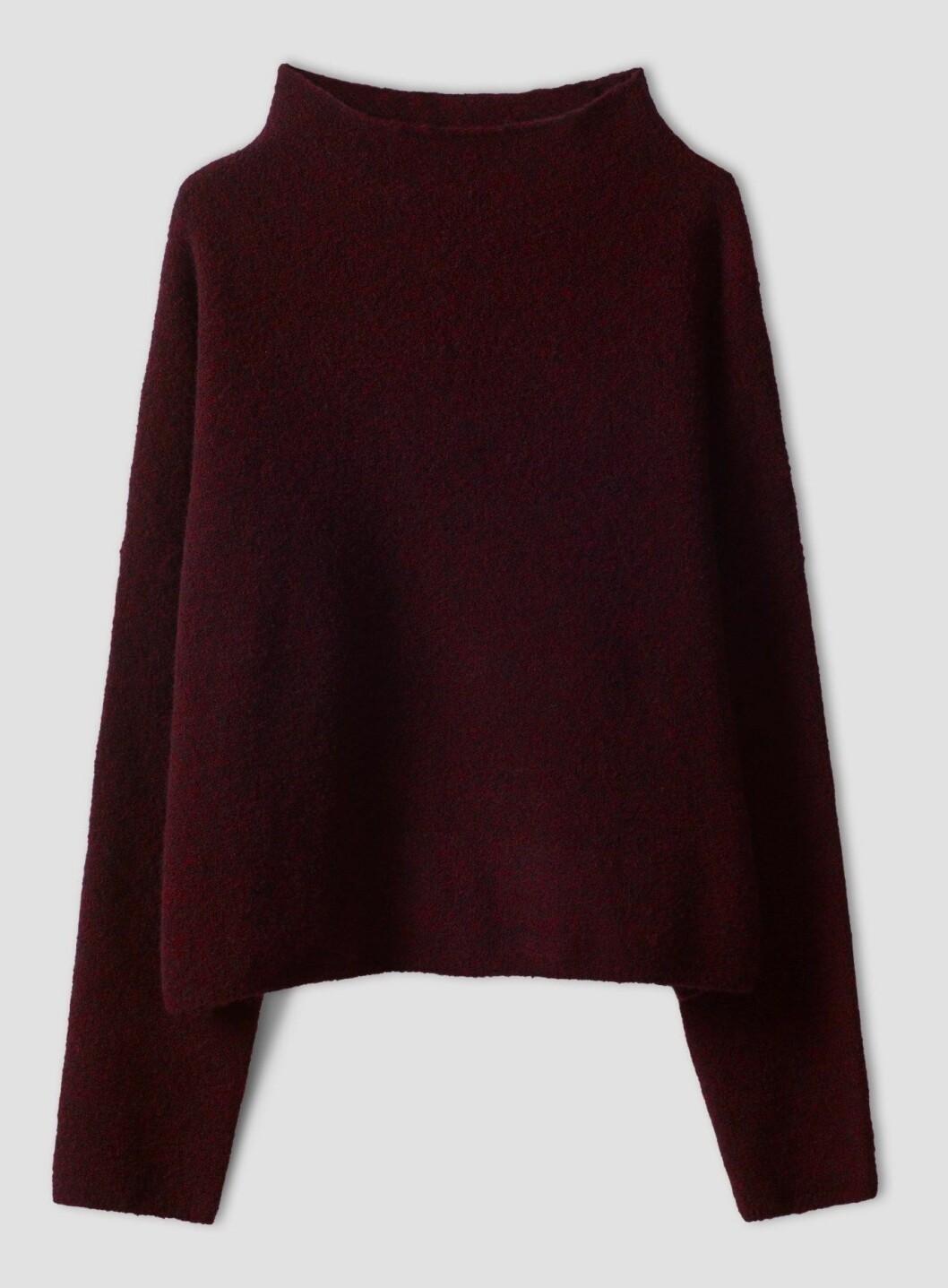 vinröd tröja från Filippa K