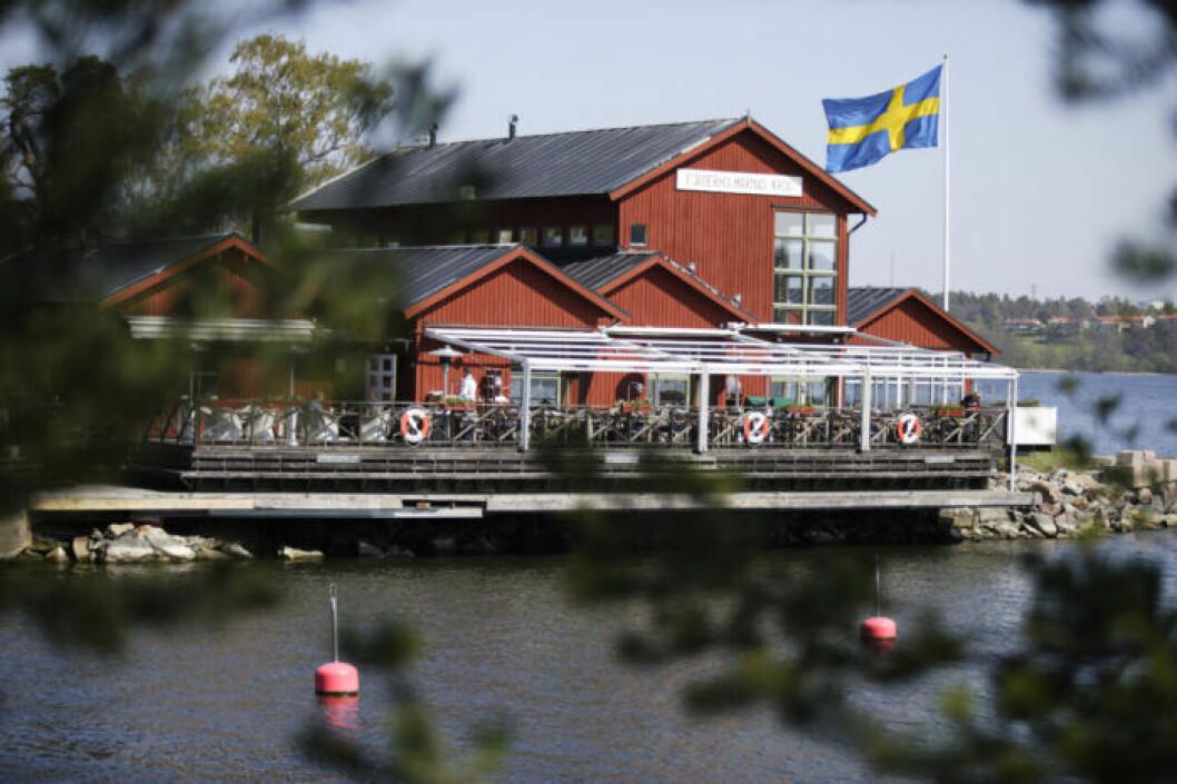 Fjäderholmarnas krog i Stokcholms skärgård