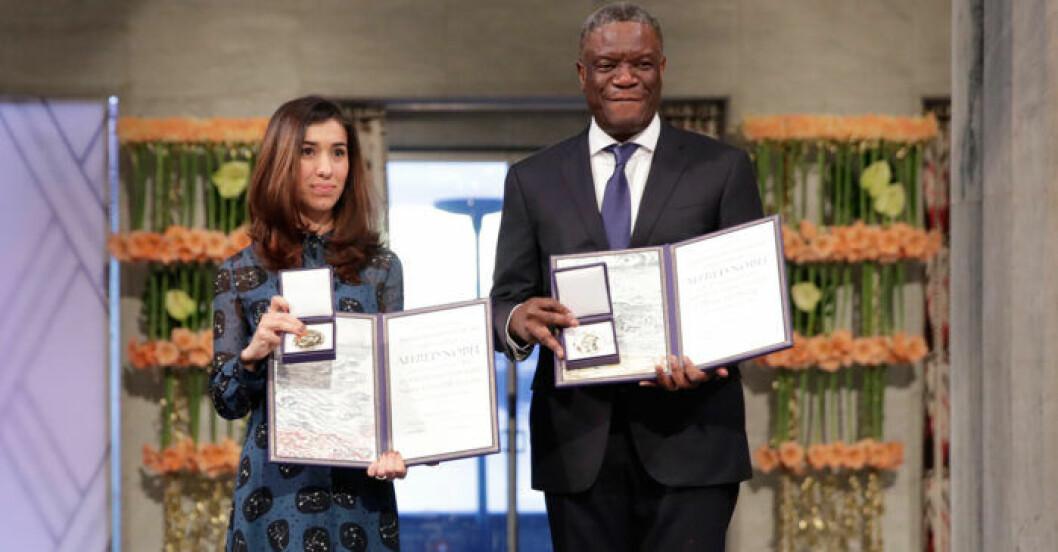 Nadia Murad och Denis Mukwege delar Nobels fredspris 2018
