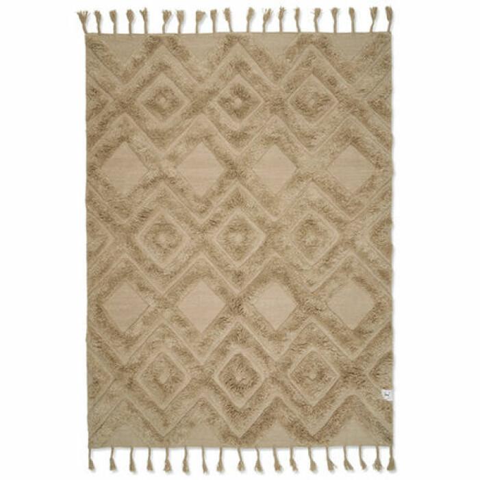 fluffig mönstrad matta från classic collection