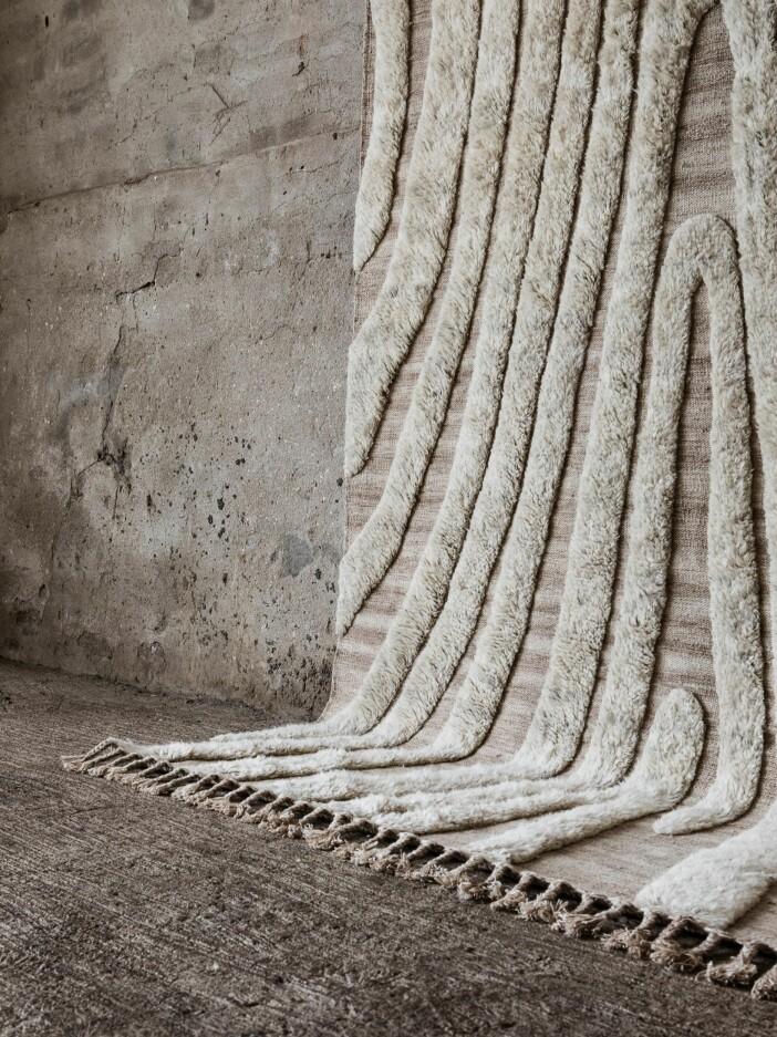 Fluffmönstrad matta med fransar från Cappelen Dimyr