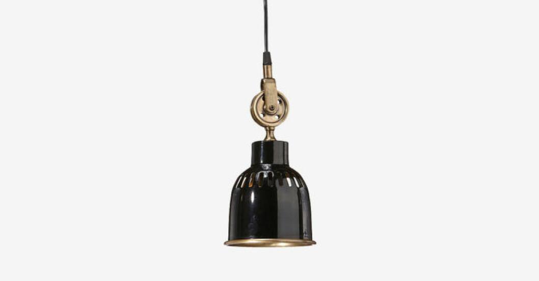 Fönsterlampa industristil svart gammaldags