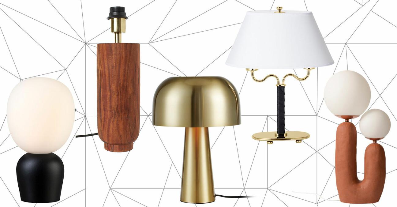 formstarka lampor till hemmet 2020.