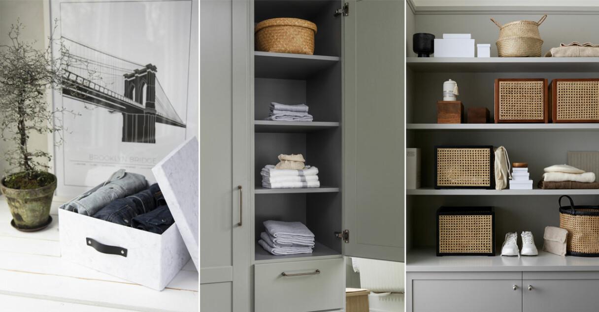 Förvaringslådor garderob