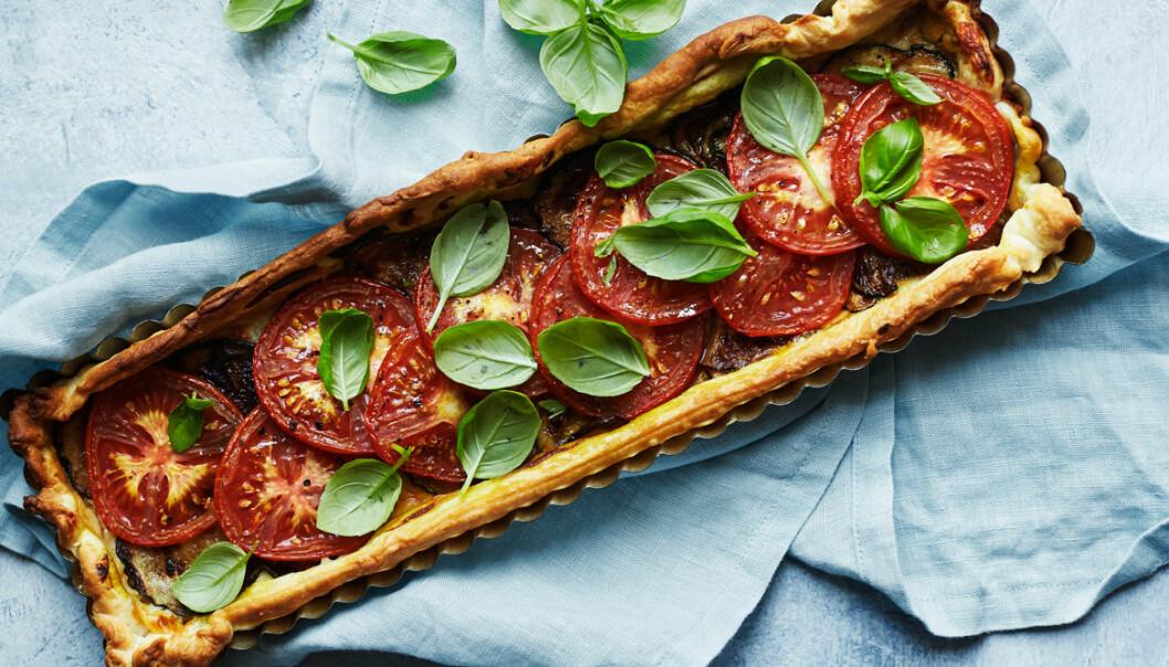 Recept på fransk tomatpaj