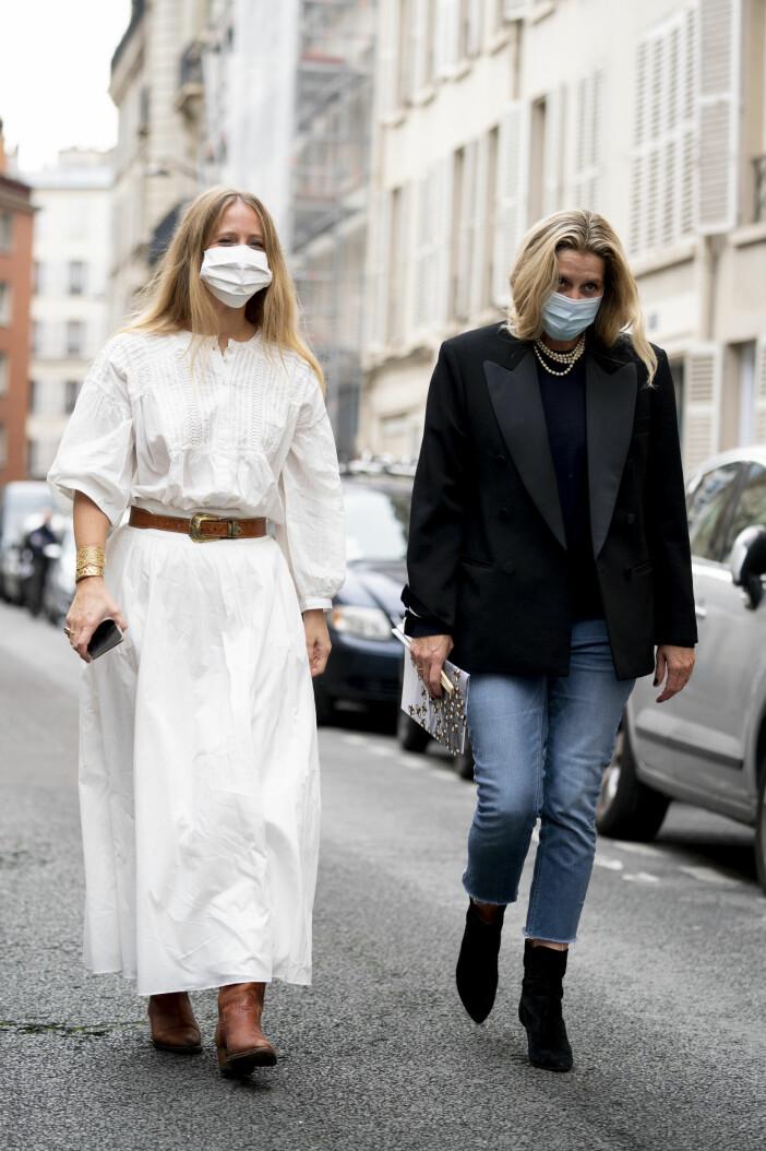 Franska stilen från Paria fashion week streetstyle,
