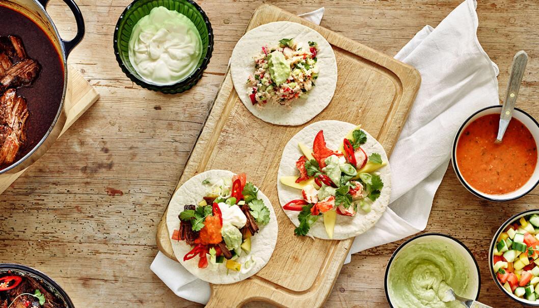 Goda tacos för alla smaker.