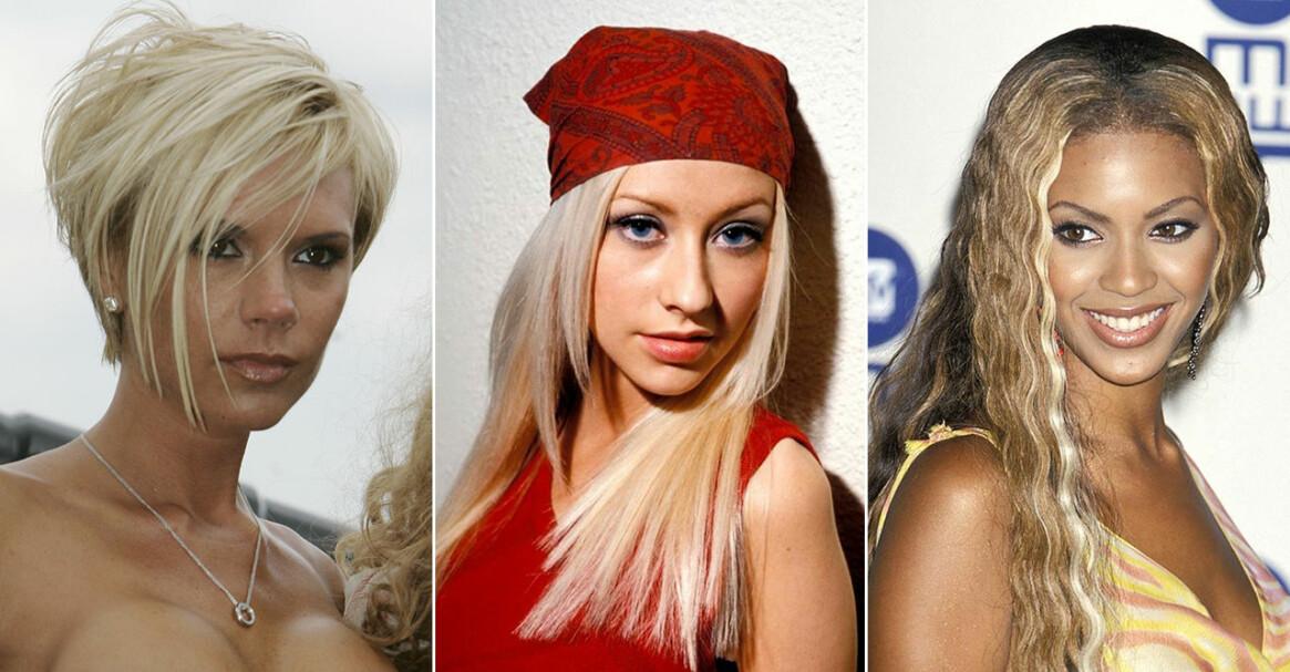 Victoria Beckham, Christina Aguilera och Beyonce