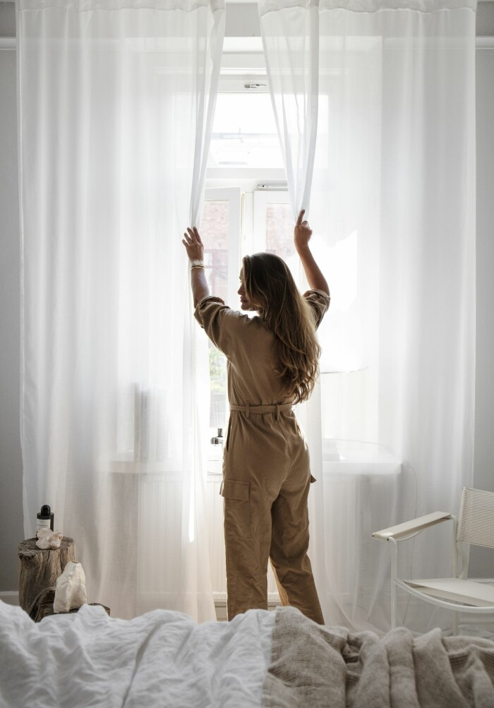 Hemma hos Gabriella Ferrero sovrum gardiner