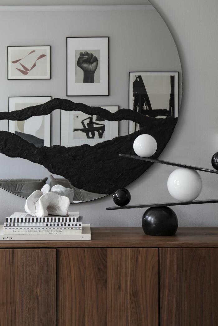 Hemma hos Gabriella Ferrero hylla skulptur