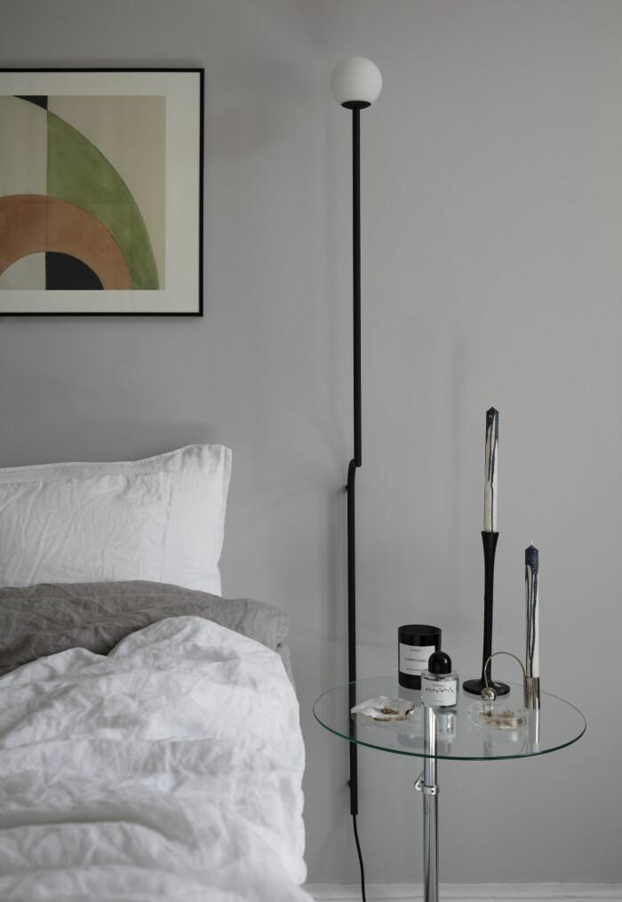 Hemma hos Gabriella Ferrero sovrum sängbord