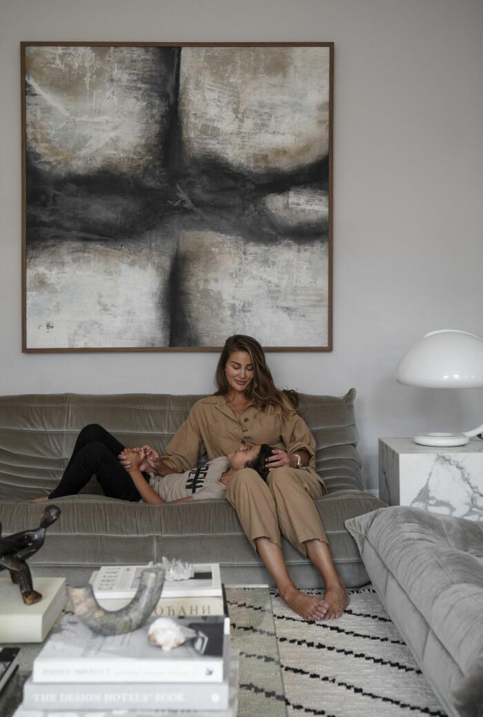 Hemma hos Gabriella Ferrero med sonen Fabien