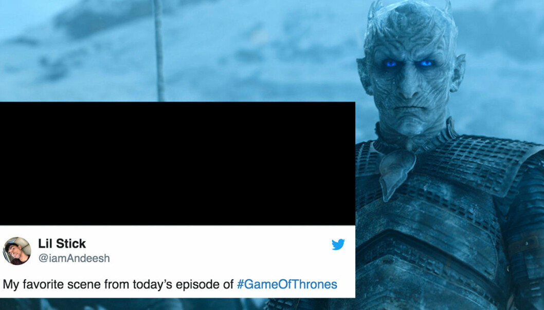 Reaktioner på att det var mörkt i det tredje avsnittet av Game of Thrones.