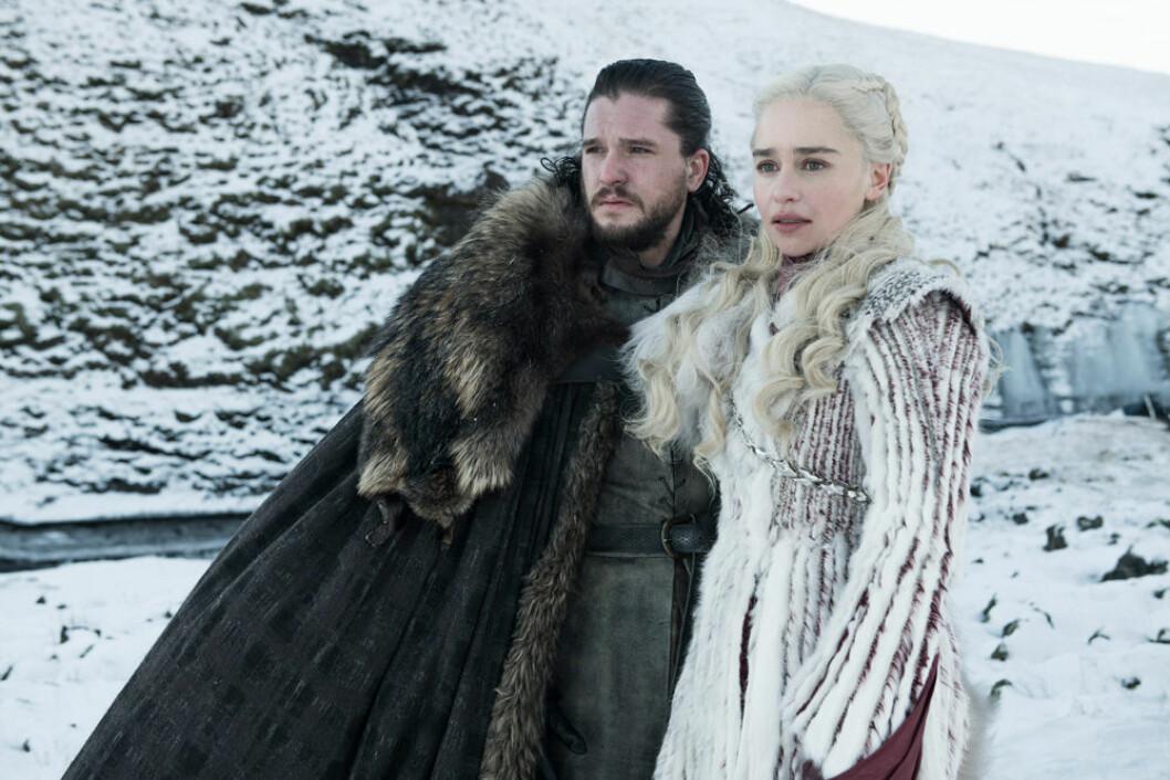 Jon Snow och Daenerys i sista säsongen av Game of Thrones.