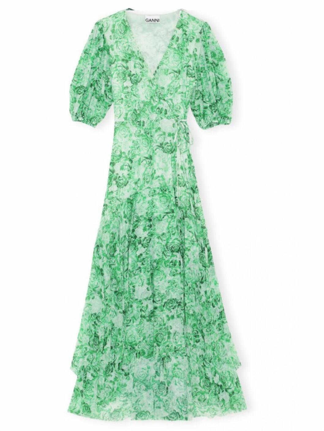 Grön klänning från Ganni