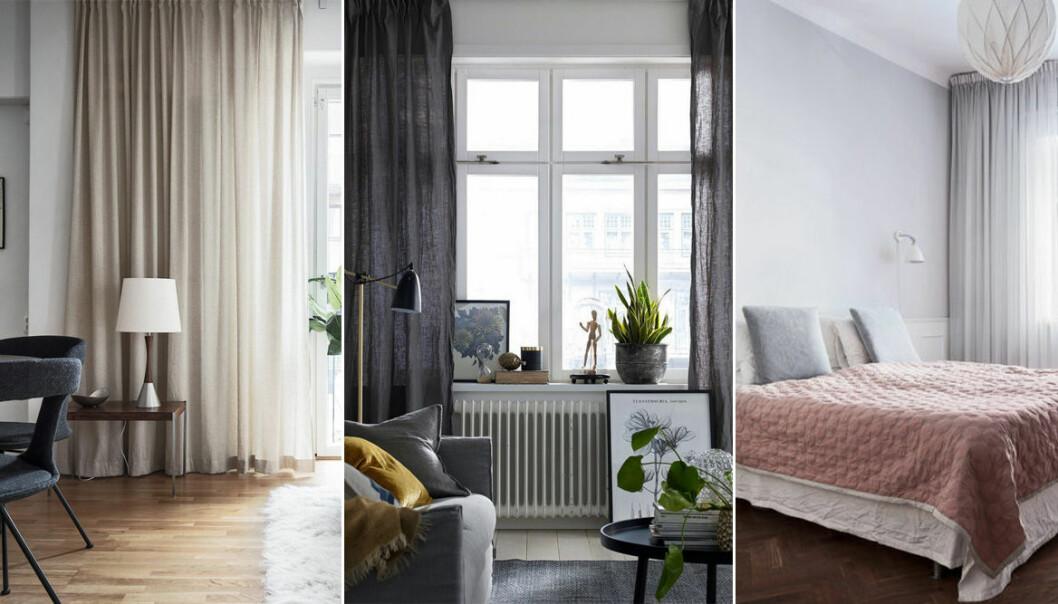 olika hem med gardiner i fokus