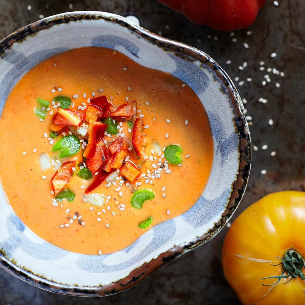 Gazpacho – kall tomatsoppa.