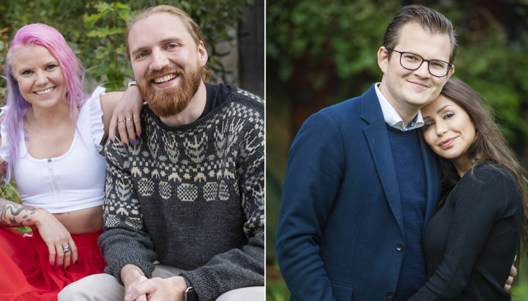 Elina Raeder med Albin Ringstad och Jacob Claesson med Elahe Eskandari