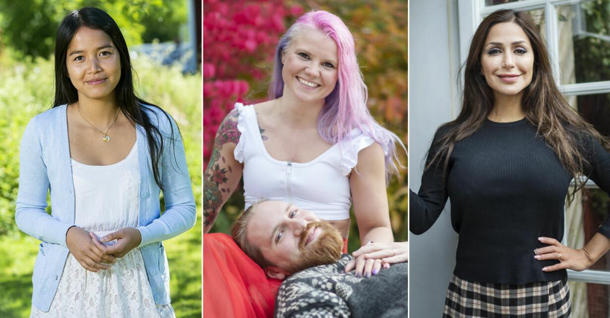 Miha Alvesson, Elina Raeder och Albin Ringstad, Elahe Eskandari från Gift vid första ögonkastet