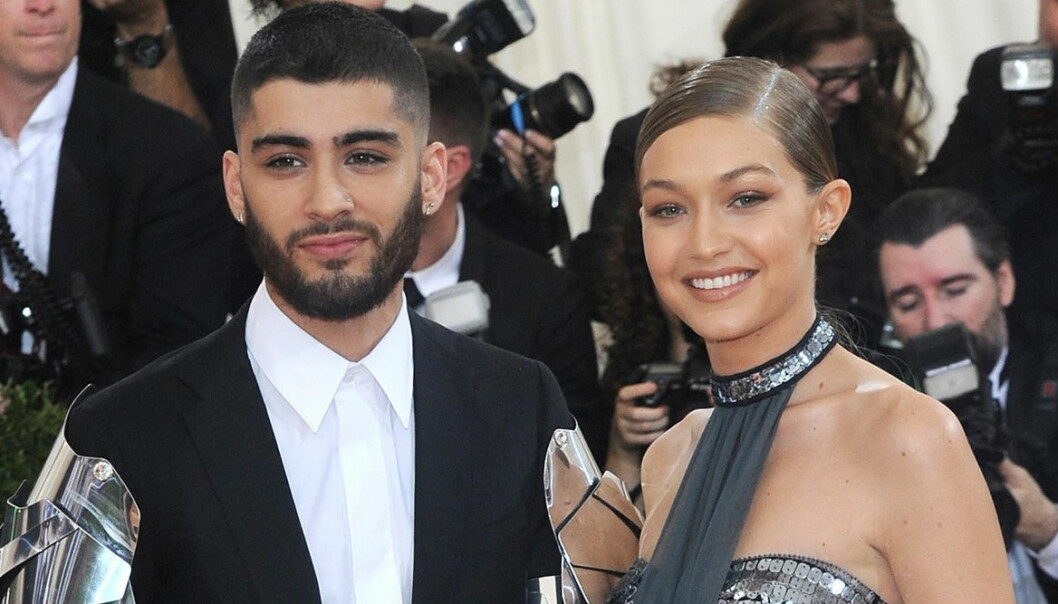 Gigi Hadid och Zayn Malik är glada på röda mattan