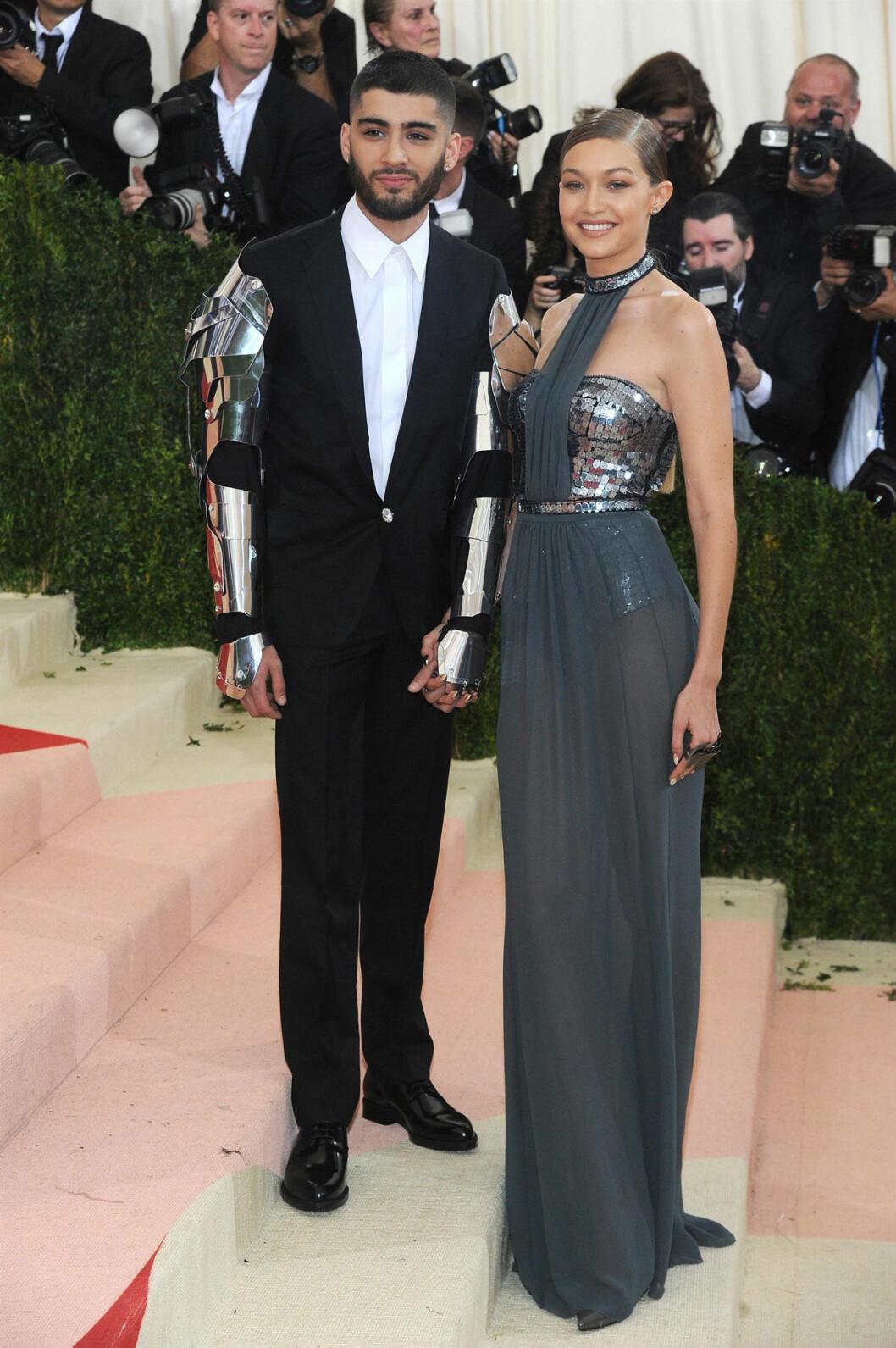 Zayn Malik och Gigi Hadid på röda mattan